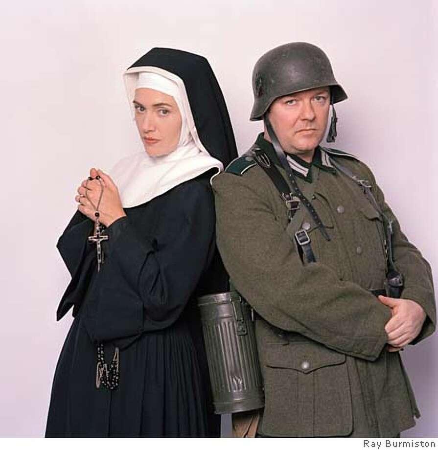 GOODMAN23_07.JPG EXTRAS: Kate Winslet, Ricky Gervais. photo: Ray Burmiston HBO Photo: Ray Burmiston