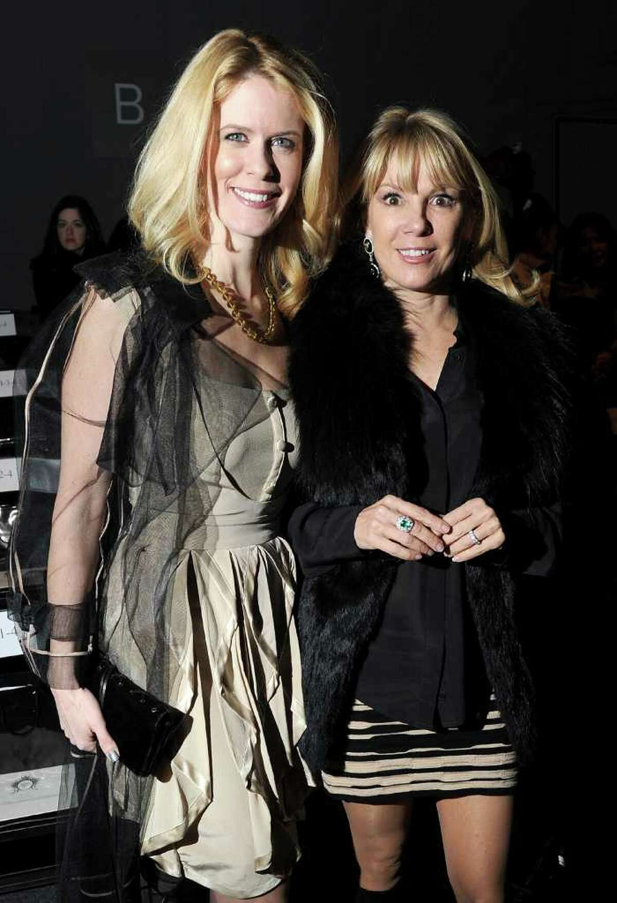 NEW YORK, NY - FEBRUARY 13: TV personalities Alex McCord (L) and Ramona Singer attend the Zang Toi Fall 2012 fashion show during Mercedes-Benz Fashion Week at The Studio at Lincoln Center on February 13, 2012 in New York City.