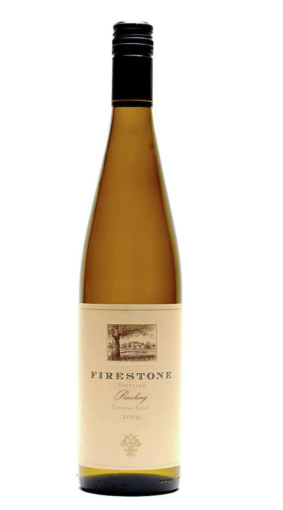2009 Firestone Riesling wine on Tuesday, Dec. 6, 2011 in Colonie, N.Y. (Lori Van Buren / Times Union)