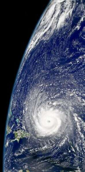 Sweeping in towards Florida in 2004, Hurricane Frances unleashes winds of over 125 miles an hour. (N