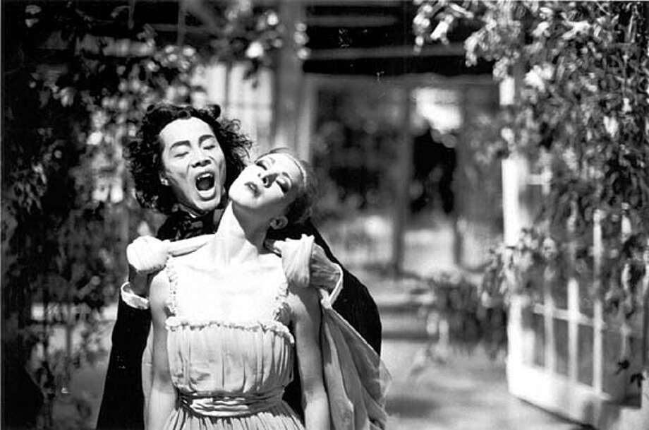 "Tara Birtwhistle and Zhang Wei-Qiang in ""Dracula: Pages from a Virgin's Diary."