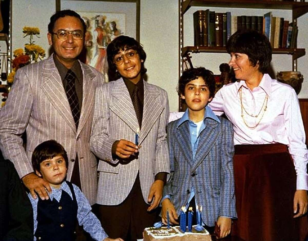 For CAPTURE13, datebook ; Arnold Friedman (father), Elaine Friedman (mother) and their three boys, Jesse (left) David (middle), and Seth (right) at David Friedman's bar mitzvah, from Capturing the Friedmans, a Magnolia Pictures release. (c) Magnolia Pictures ; Inserted into mediagrid on 5/12/03 in . / Magnolia Pictures