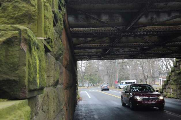 The railway bridge on Tomac Avenue in Old Greenwich on Wednesday, Feb. 15, 2012. Metro-North Railroad has slated this bridge and the one on Sound Beach Avenue to be replaced. Photo: Helen Neafsey / Greenwich Time
