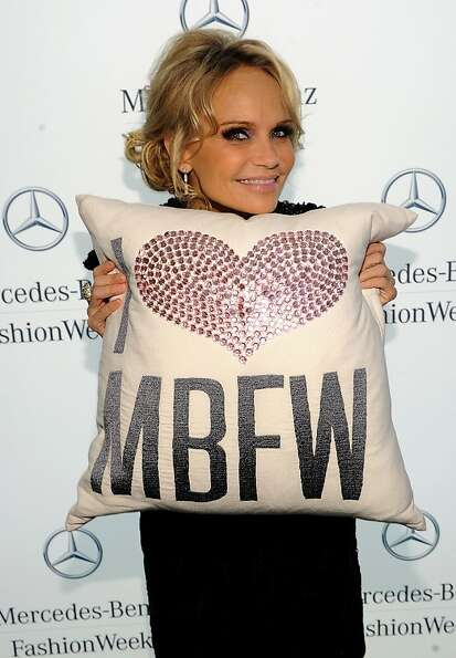 NEW YORK, NY - FEBRUARY 14:  Actress Kristin Chenoweth poses during Mercedes-Benz Fashion Week at Li