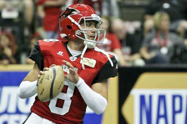 2012 Talons QB Aaron Garcia as a member of the Jacksonville Sharks in 2011. Photo: Courtesy Photo
