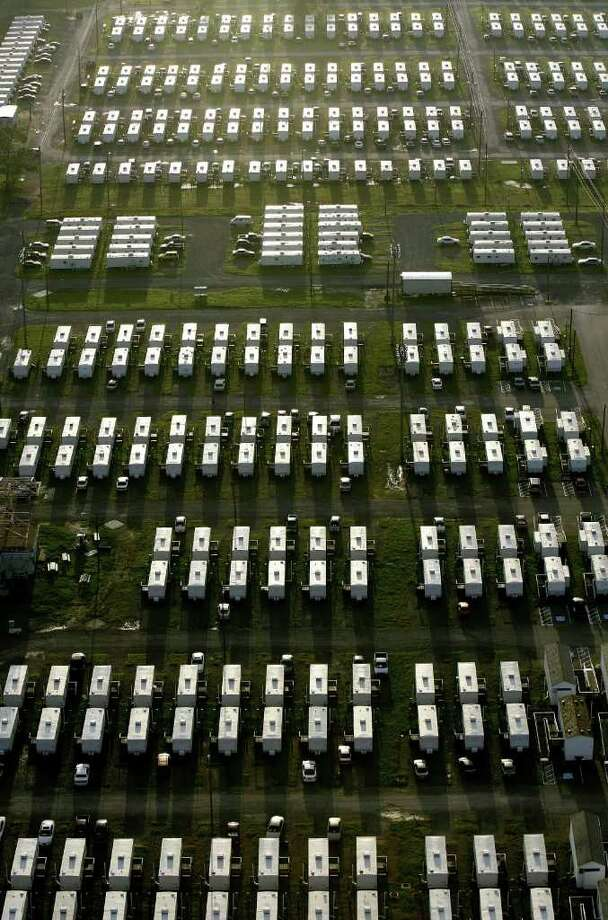 More than six years after Hurricane Katrina, FEMA trailers are no longer used in New Orleans. Photo: ALEX BRANDON / AP2006