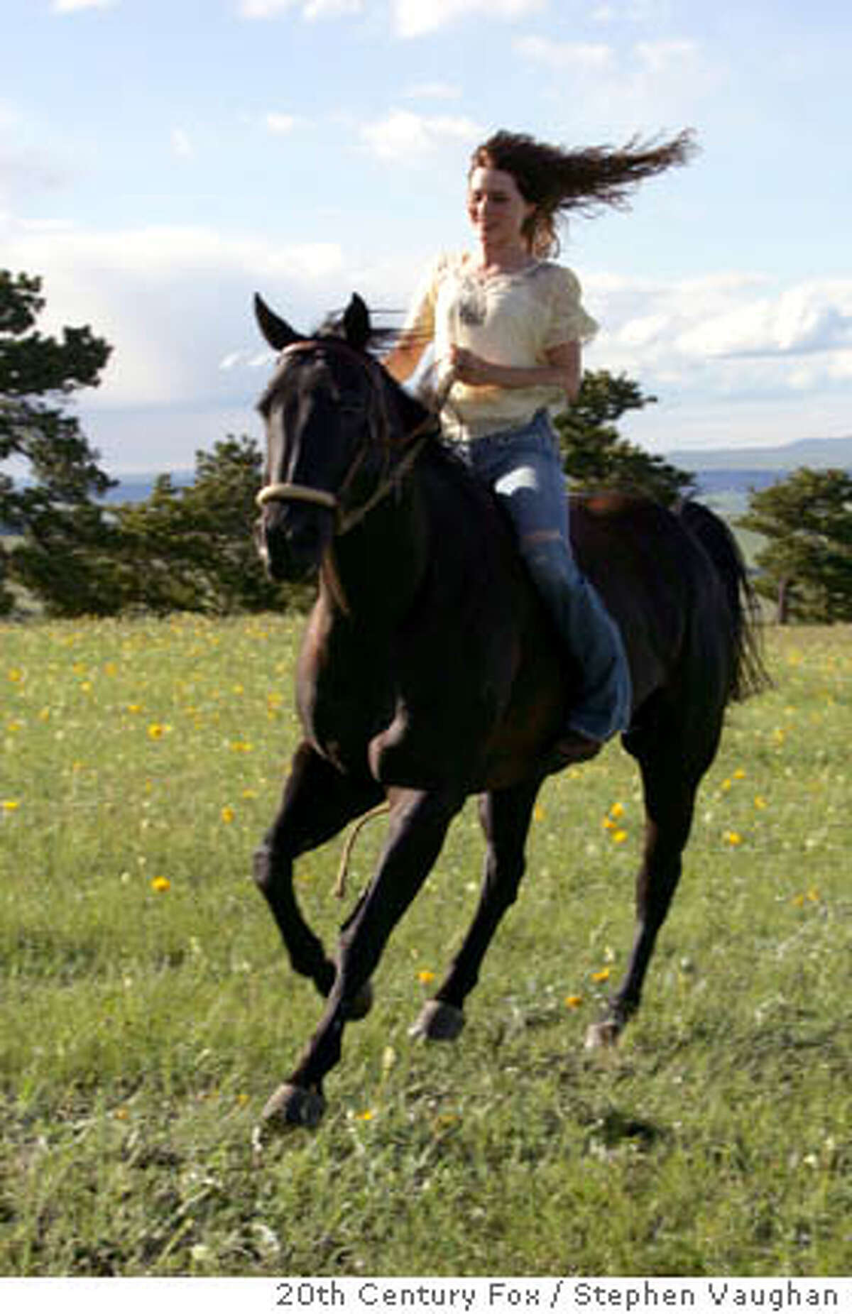 Katy McLaughlin (Alison Lohman) rides her mustang, the title character of