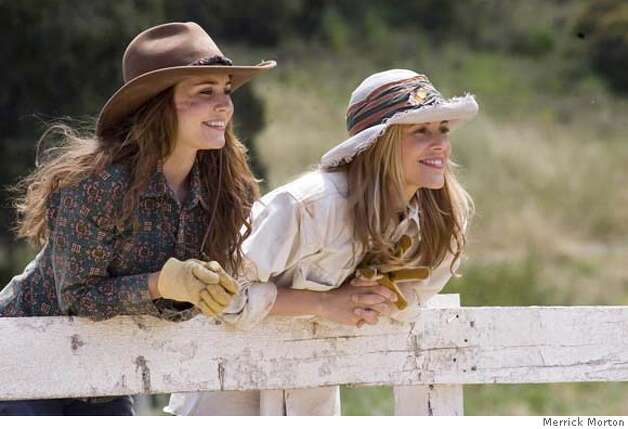 Katy McLaughlin (Alison Lohman) and her mother Nell (Maria Bellow) enjoy watching their horses. Photo: Photo Credit: Merrick Morton
