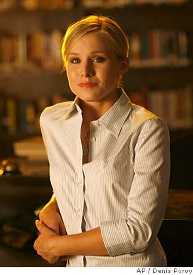 "Actress Kristen Bell appears on the set of the television series ""Veronica Mars,"" on Wednesday, Aug. 23, 2006 in San Diego. (AP Photo/Denis Poroy) Photo: DENIS POROY"