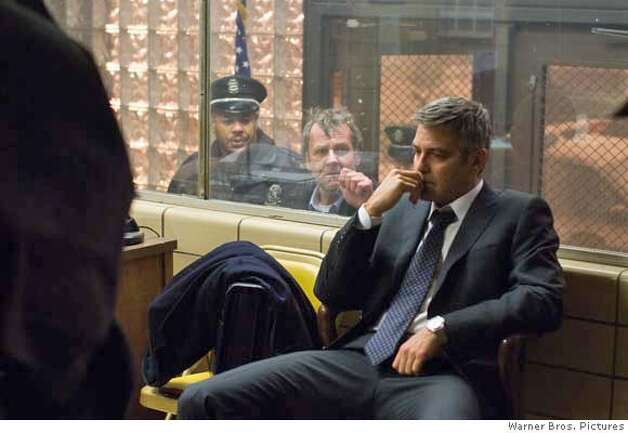 TOM WILKINSON as Arthur Edens and GEORGE CLOONEY as Michael Clayton in Warner Bros. Pictures, Samuels Media and Castle Rock Entertainment�s drama �Michael Clayton,� distributed by Warner Bros. Pictures.  PHOTOGRAPHS TO BE USED SOLELY FOR ADVERTISING, PROMOTION, PUBLICITY OR REVIEWS OF THIS SPECIFIC MOTION PICTURE AND TO REMAIN THE PROPERTY OF THE STUDIO. NOT FOR SALE OR REDISTRIBUTION. Photo: Myles Aronowitz