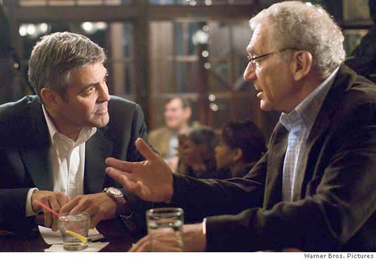 GEORGE CLOONEY as Michael Clayton and SYDNEY POLLACK as Marty Bach in Warner Bros. Pictures, Samuels Media and Castle Rock Entertainment�s drama �Michael Clayton,� distributed by Warner Bros. Pictures. PHOTOGRAPHS TO BE USED SOLELY FOR ADVERTISING, PROMOTION, PUBLICITY OR REVIEWS OF THIS SPECIFIC MOTION PICTURE AND TO REMAIN THE PROPERTY OF THE STUDIO. NOT FOR SALE OR REDISTRIBUTION.