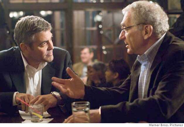 GEORGE CLOONEY as Michael Clayton and SYDNEY POLLACK as Marty Bach in Warner Bros. Pictures, Samuels Media and Castle Rock Entertainment�s drama �Michael Clayton,� distributed by Warner Bros. Pictures.  PHOTOGRAPHS TO BE USED SOLELY FOR ADVERTISING, PROMOTION, PUBLICITY OR REVIEWS OF THIS SPECIFIC MOTION PICTURE AND TO REMAIN THE PROPERTY OF THE STUDIO. NOT FOR SALE OR REDISTRIBUTION. Photo: Myles Aronowitz