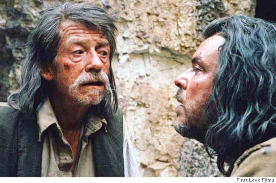 "John Hurt and Danny Huston in ""The Proposition""  Ran on: 05-21-2006 at Bay Area theaters. Photo: First Look Films"