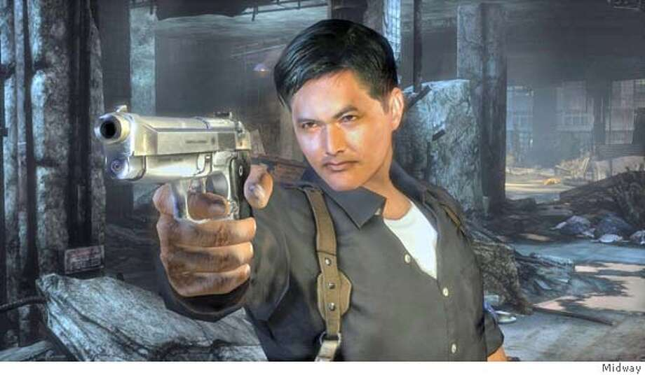Screenshot from Stranglehold. Chow Yun-Fat's involvement in the game lends it an extra bit of credibility - even if his voicework is done all in English.  Ran on: 09-18-2007  Chow Yun-Fat's penchant for bullets and more bullets makes gameplay sizzle in Stranglehold. Photo: Midway