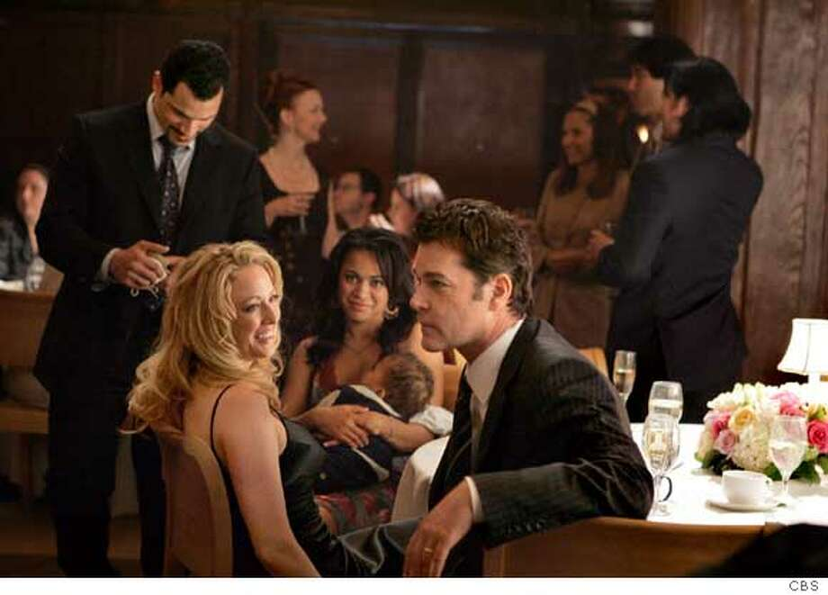 SMITH -- Ray Liotta (left) stars as a criminal mastermind married to Virginia Madsen (left of center) in a drama about a close-knit crew of career criminals including Franky G (left) who plot and execute intricate and ingenious high-stakes heists across the country, in SMITH, premiering this fall (Tuesday, 10:00-11:00 PM, ET/PT) on the CBS Television Network.  Photo: Cliff Lipson/CBS  CBS Upfront New Season  �2006 CBS Broadcasting Inc. All Rights Reserved.  Ran on: 05-18-2006  Virginia Madsen and Ray Liotta star in &quo;Smith,'' a new CBS drama about career criminals plotting high-stakes heists.  Ran on: 09-19-2006  Virginia Madsen and Ray Liotta are husband and wife in CBS' new caper series, &quo;Smith,&quo; which premieres tonight. Photo: CLIFF LIPSON