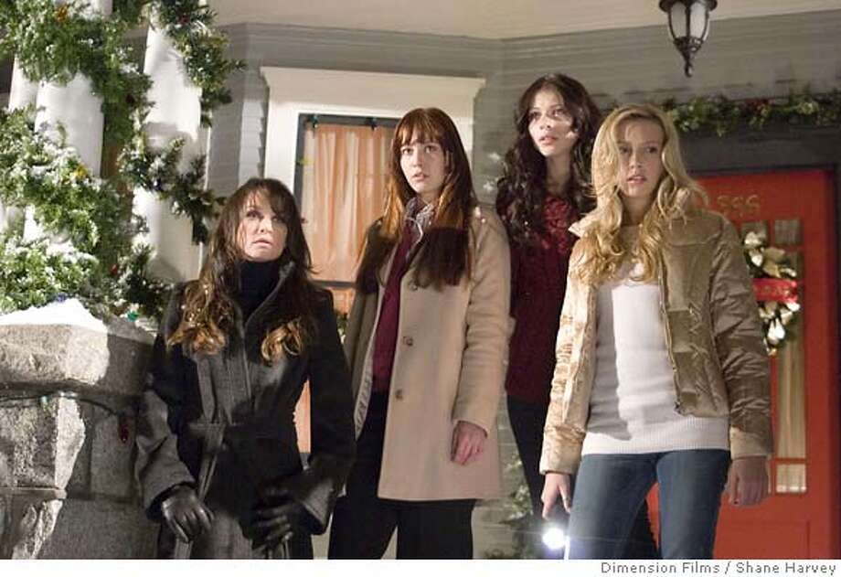 """(L-R) Kristen Cloke (Leigh), Mary Elizabeth Winstead (Heather), Michelle Trachtenberg (Melissa) and Katie Cassidy (Kelli) star in Glen Morgan's remake of the 1974 horror movie, """"Black Christmas,"""" opening on Christmas day. Photo by Shane Harvey/Dimension Films  Ran on: 12-24-2006  Naomi Watts as Kitty Fane and Edward Norton as Walter Fane in John Curran's &quo;The Painted Veil,&quo; a film adaptation of W. Somerset Maugham's novel set in the 1920s, opening Friday at Landmark theaters.  Ran on: 12-27-2006  Kristen Cloke (from left), Mary Elizabeth Winstead, Michelle Trachtenberg and Katie Cassidy in &quo;Black Christmas.&quo; Photo: Shane Harvey/Dimension Films"""