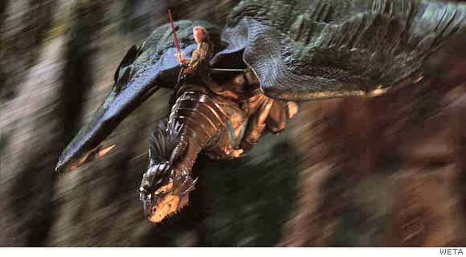 FX-41 Swooping down into the battle, Eragon (Ed Speleers) and Saphira come to the aid of the Varden soldiers as they battle Durza�s evil army. Photo credit: WETA  TM and �2006 Twentieth Century Fox. All rights reserved. Not for sale or duplication. Photo: Photo Credit: WETA