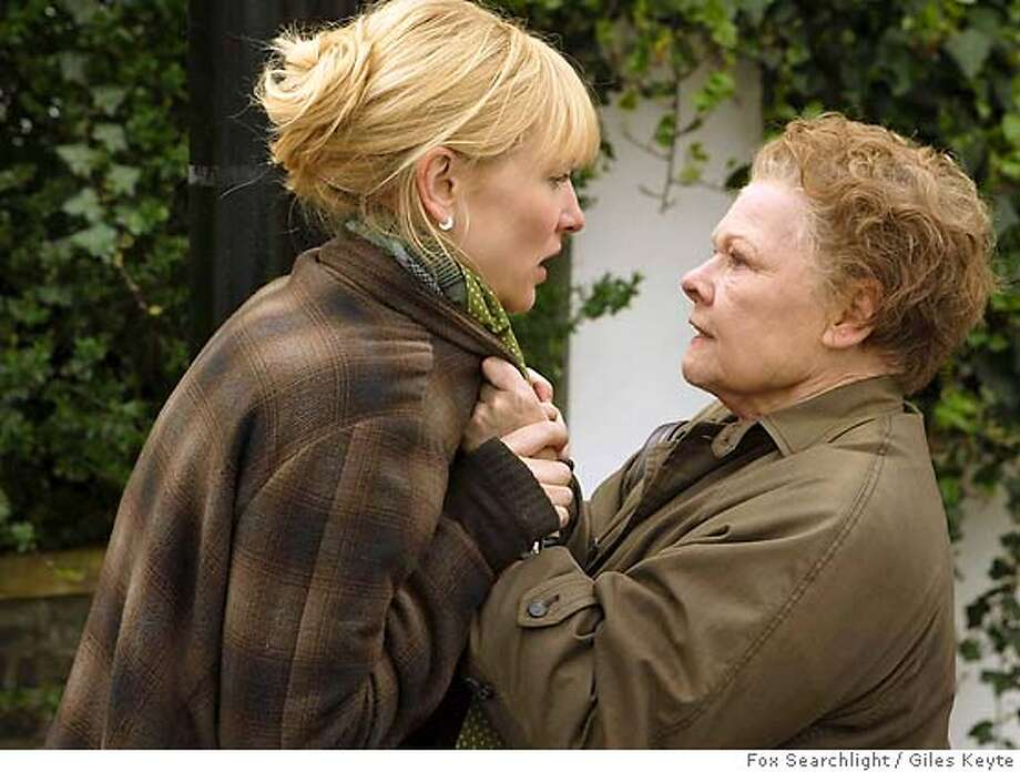 """�In this photo provided by Fox Searchlight, A pottery teacher Sheba hart (Cate Blanchett) begins an illicit affair and Barbara Covett (Judi Dench ) becomes the keeper of her secretin """"Notes On A Scandal."""" (AP Photo/Fox Searchlight/Giles Keyte) Photo: GILES KEYTE"""