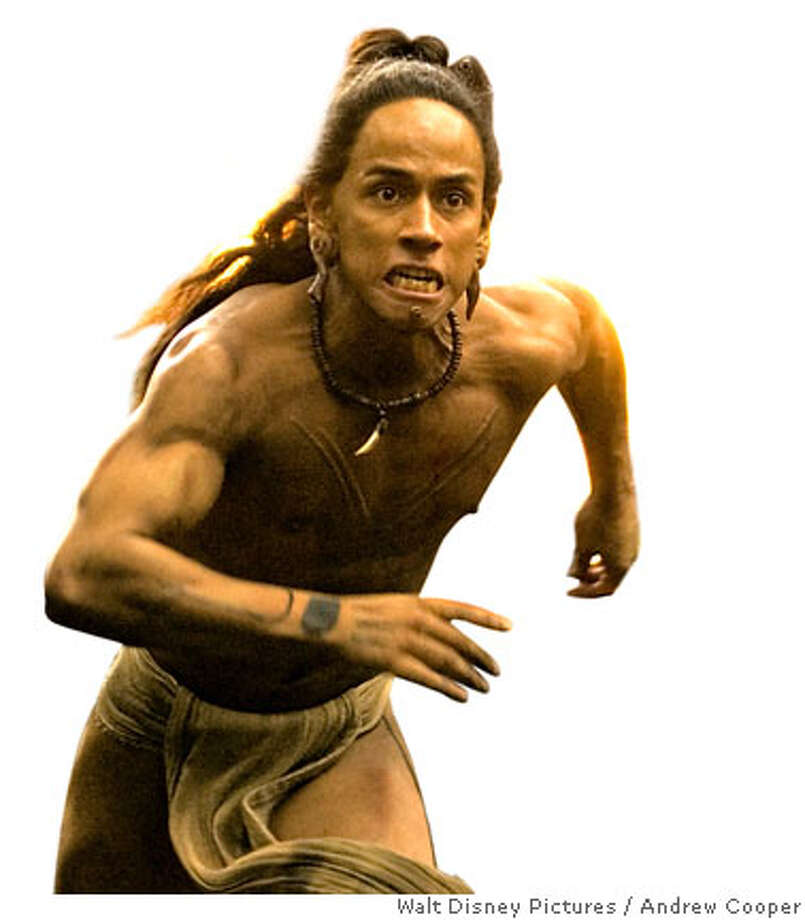 "In this photo provided by Walt Disney Pictures, As the Maya kingdom faces its decline, the rulers insist the key to prosperity is to build more temples and offer human sacrifices. Jaguar Paw (Rudy Youngblood), a young man chosen for sacrifice, flees the kingdom to avoid his fate in ""Apocalypto.""  (Photo Credit: Andrew Cooper/AP Photo/Walt Disney Pictures) Copyright: Icon Distribution, Inc., All rights reserved Photo: Ho"