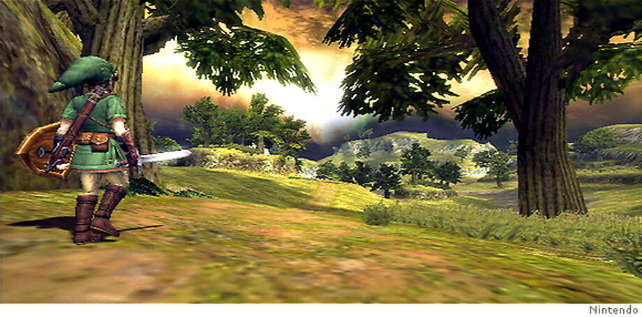 Screenshot from The Legend of Zelda: Twilight Princess (human form).  (c) Nintendo 2006 Photo: Ho