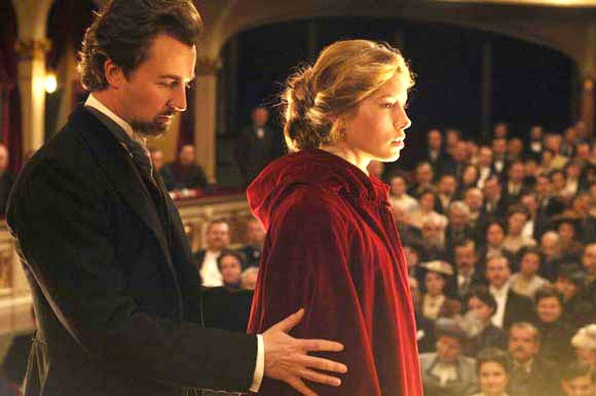 Edward Norton and Jessica Biel in Yari Film Group's The Illusionist - 2006