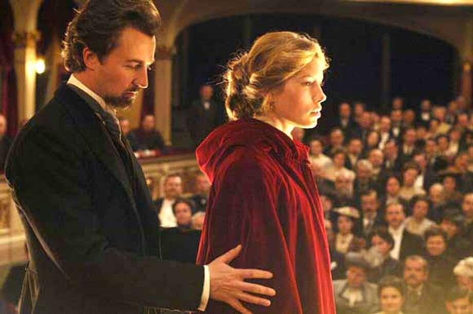 Edward Norton and Jessica Biel in Yari Film Group's The Illusionist - 2006 Photo: H/o