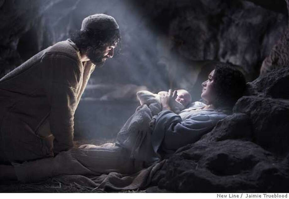 Description: Oscar Isaac (left) stars as �Joseph� and Keisha Castle-Hughes (right) stars as �Mary� in New Line Cinema�s release of Catherine Hardwicke�s drama, The Nativity Story. Photo Credit: �2006 Jaimie Trueblood/New Line Photo: Jaimie Trueblood