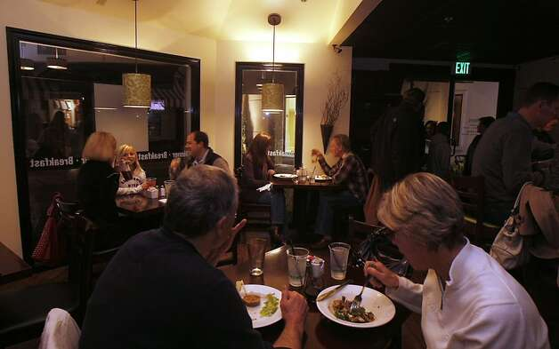 The Little Pear Bistro is a small restaurant with an outdoors patio open to the small pond, overlooking a fountain. It is located in Danville, CA at the Blackhawk Plaza Circle. February 11, 2012 Photo: Siana Hristova, The Chronicle