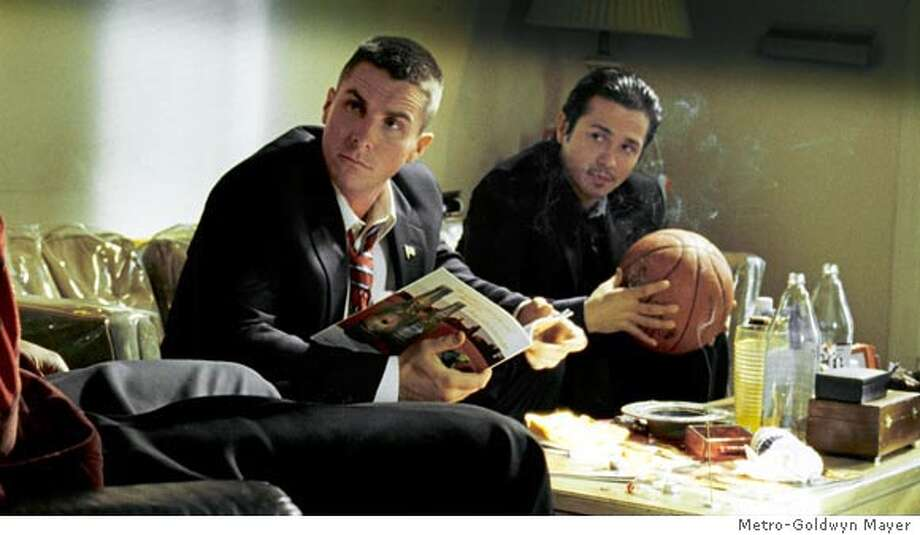 (L to r ) CHRISTIAN BALE and FREDDY RODRIGUEZ star in HARSH TIMES, written and directed by DAVID AYER. Photo courtesy of Metro-Goldwyn Mayer Pictures, Inc. Ran on: 11-10-2006  Jim (Christian Bale, left) and chum Mike (Freddy Rodriguez) in &quo;Harsh Times,&quo; directed by David Ayer (&quo;Training Day&quo;). Photo: Photo Courtesy Of Metro-Goldwyn