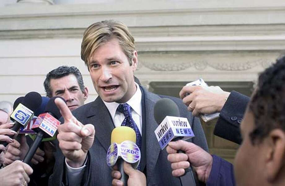 Aaron Eckhart in THANK YOU FOR SMOKING Photo Credit: Dale Robinette Ran on: 03-23-2006  Aaron Eckhart makes big bucks to promote the tobacco industry in &quo;Thank You for Smoking.&quo;Ran on: 03-23-2006  Ran on: 03-23-2006  Ran on: 03-23-2006 Photo: HO
