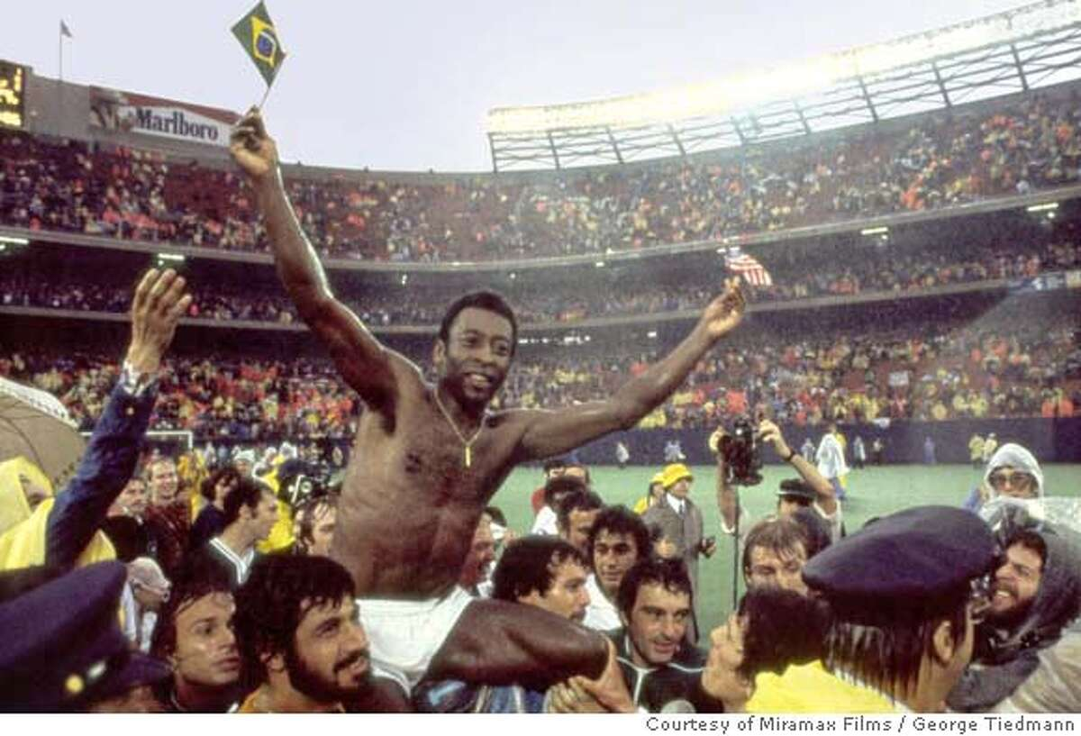Pel� in ONCE IN A LIFETIME: THE EXTRAORDINARY STORY OF THE NEW YORK COSMOS. Photo Credit: George Tiedmann/Courtesy of Miramax Films.