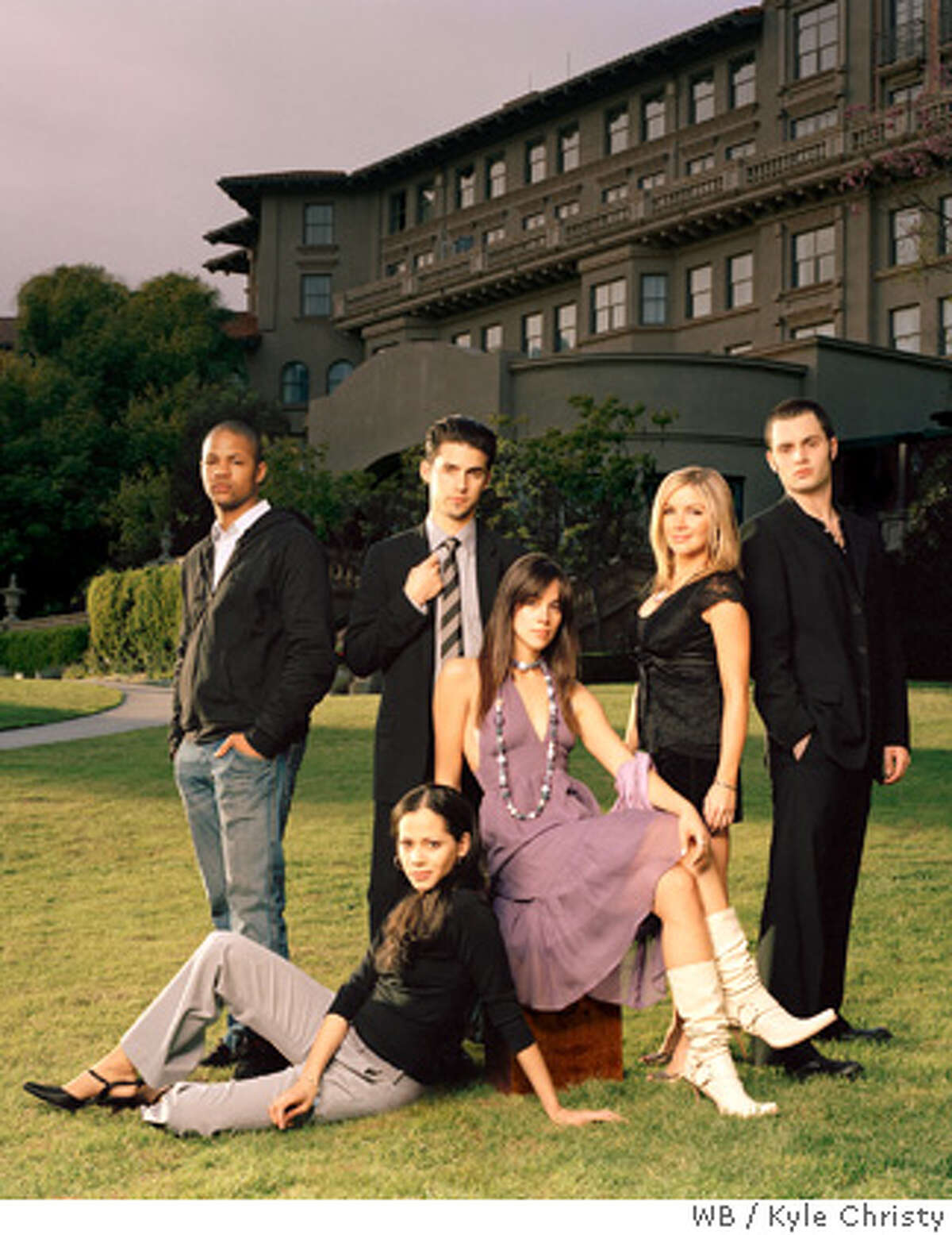 The Bedford Diaries Pictured (front l-r): Victoria Cartagena as Zoe Lopez, Tiffany Dupont as Sarah Gregory (back l-r) Ernest Waddell as Lee Hemingway, Milo Ventimiglia as Richard Thorne III, Corri English as Natalie Dykstra, Penn Badgley as Owen Gregory Credit: � The WB / Kyle Christy