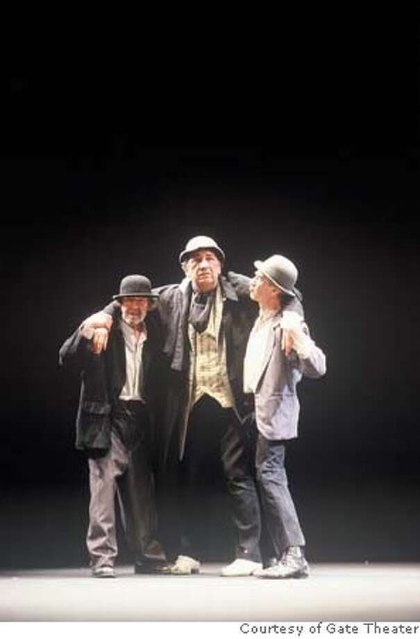 Actors Johnny Murphy, Alan Stanford and Berry McGovern. Celebrating the centenary of Samuel Beckett's birth, Ireland's esteemed Gate Theatre returns to Cal Performances with encore performances of one of the greatest of all 20th-century dramas, Waiting for Godot, November 1-5, 2006. PHOTO: COURTESY OF GATE THEATER Photo: COURTESY OF GATE THEATER