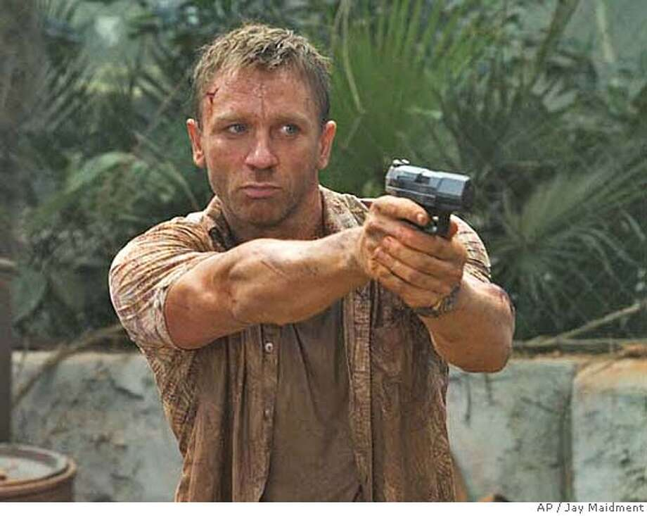 "In this 2006 promotional photo provided by Sony Pictures, actor Daniel Craig portrays super-spy James Bond in a scene from the latest Bond movie, ""Casino Royale."" (AP Photo/Jay Maidment) Photo: JAY MAIDMENT"