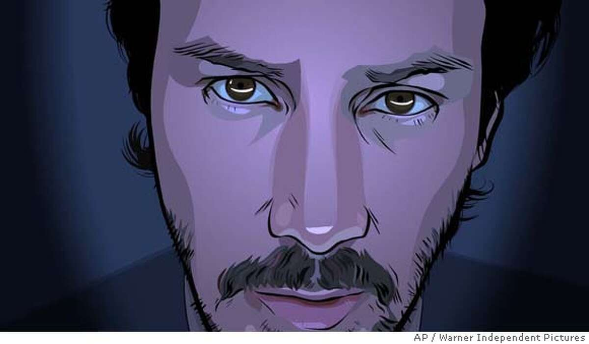 In this photo provided by Warner Independent Pictures, Americas endless and futile war on drugs has become one and the same with its war on terror,a reluctant undercover cop Bob Arctor (Keanu Reeves) follows orders to start spying on his friends in 'A Scanner Darkly.' (AP Photo/Warner Independent Pictures)
