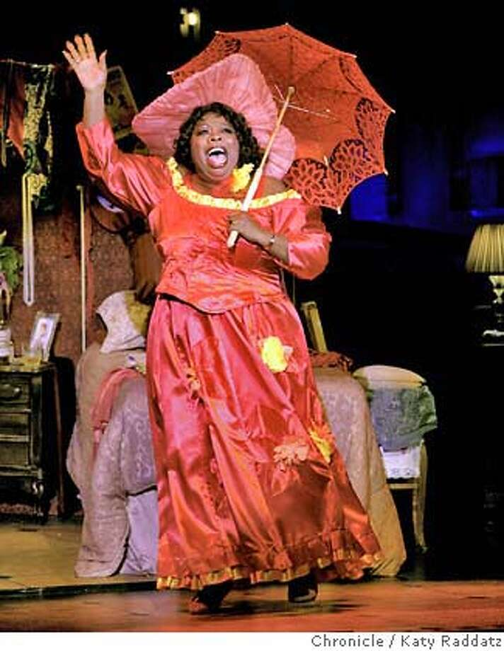 "BLUES_080_RAD.jpg  SHOWN: Carol Woods sings ""Take Me for a Buggy Ride."" ""Blues in the Night"" is playing at the Post Street Theater in San Francisco, CA. (Katy Raddatz/The Chronicle)  ** Photo: Katy Raddatz"