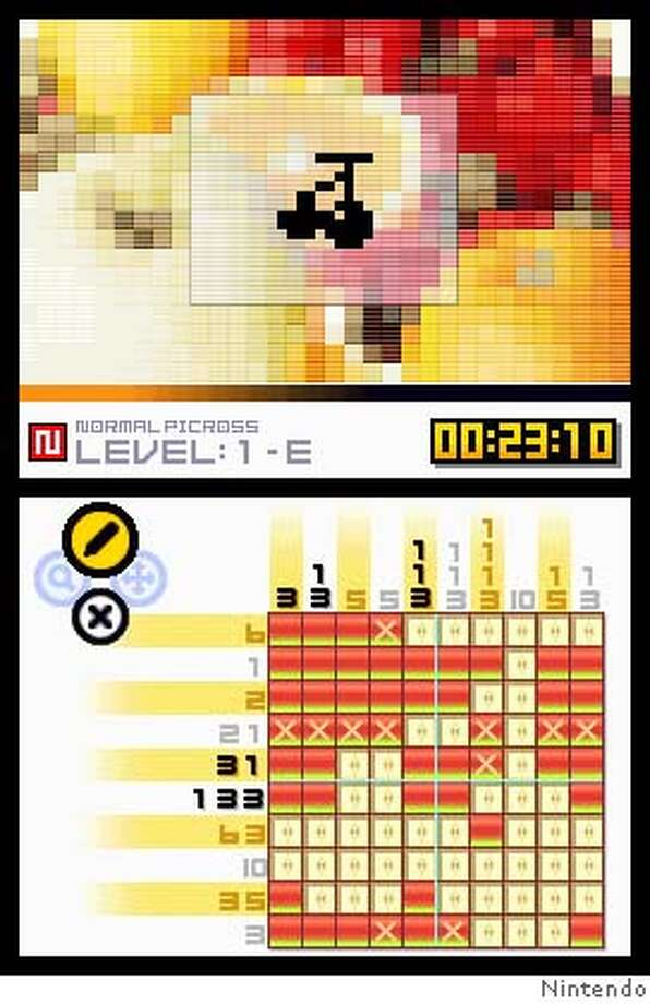 Screenshot from Picross DS Photo: Nintendo