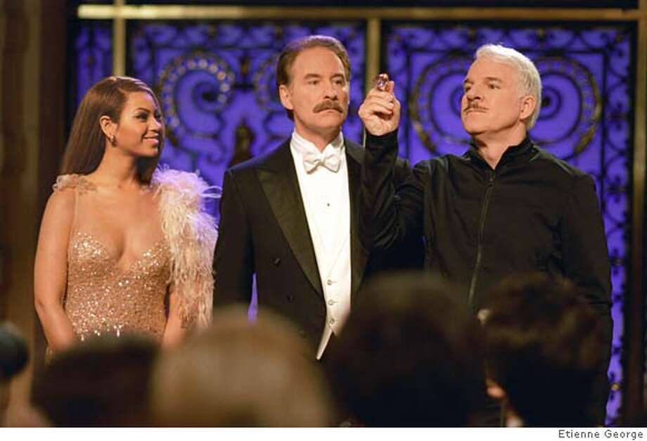 (l to r) Beyonc� Knowles, Kevin Kline and Steve Martin star in Metro-Goldwyn-Mayer Pictures and Columbia Pictures� action-packed comedy The Pink Panther, a Columbia Pictures release. Photo credit: Etienne George **ALL IMAGES ARE PROPERTY OF SONY PICTURES ENTERTAINMENT INC. FOR PROMOTIONAL USE ONLY. SALE, DUPLICATION OR TRANSFER OF THIS MATERIAL IS STRICTLY PROHIBITED. Photo: Etienne George