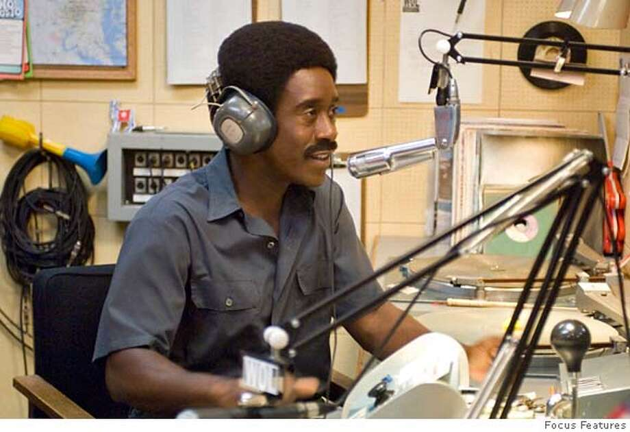 Don Cheadle in TALK TO ME Ran on: 07-08-2007  Don Cheadle plays outrageous activist DJ Ralph &quo;Petey&quo; Greene in &quo;Talk to Me.&quo; Photo: Focus Features