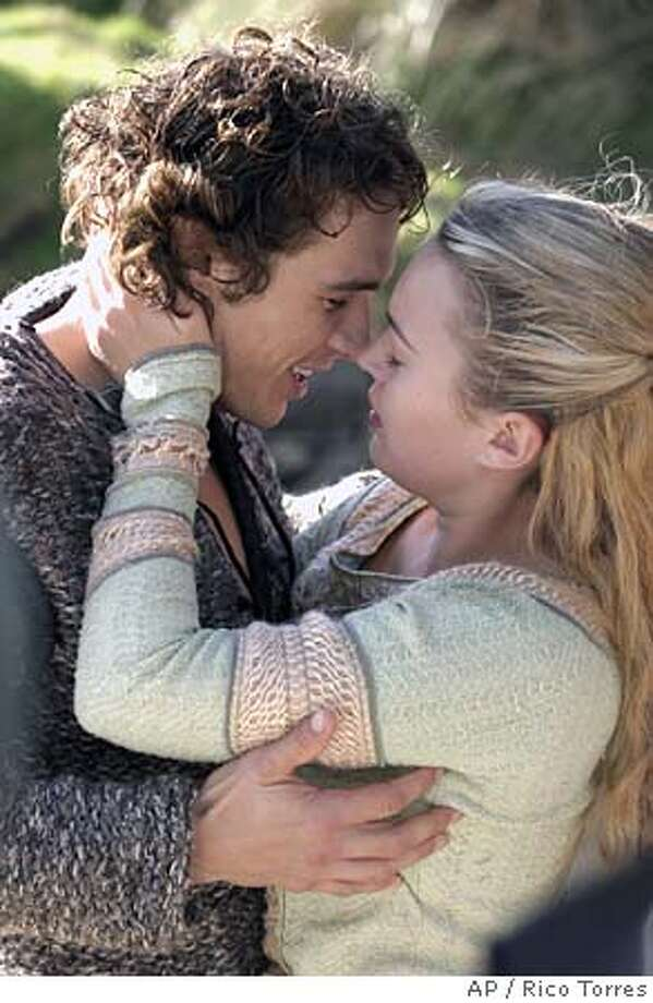 "In this photo provided by 20th Century Fox, before fate drives them away from one another, Tristan (James Franco) and Isolde (Sophia Myles) revel in their newfound love in ""Tristan & Isolde."" (AP Photo/20th Century Fox/Rico Torres) Photo: RICO TORRES"