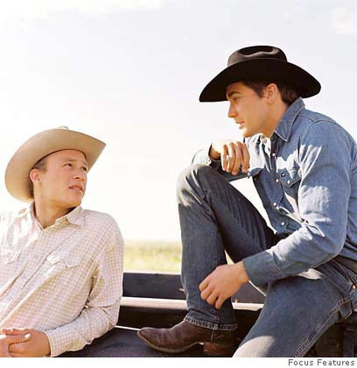 """Still from the movie, """"Brokeback Mountain,"""" with stars Heath Ledger and Jake Gyllenhaal. Photo: Courtesy of Focus Features"""