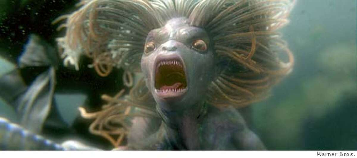 A mermaid in a scene from Warner Bros. Pictures' fantasy