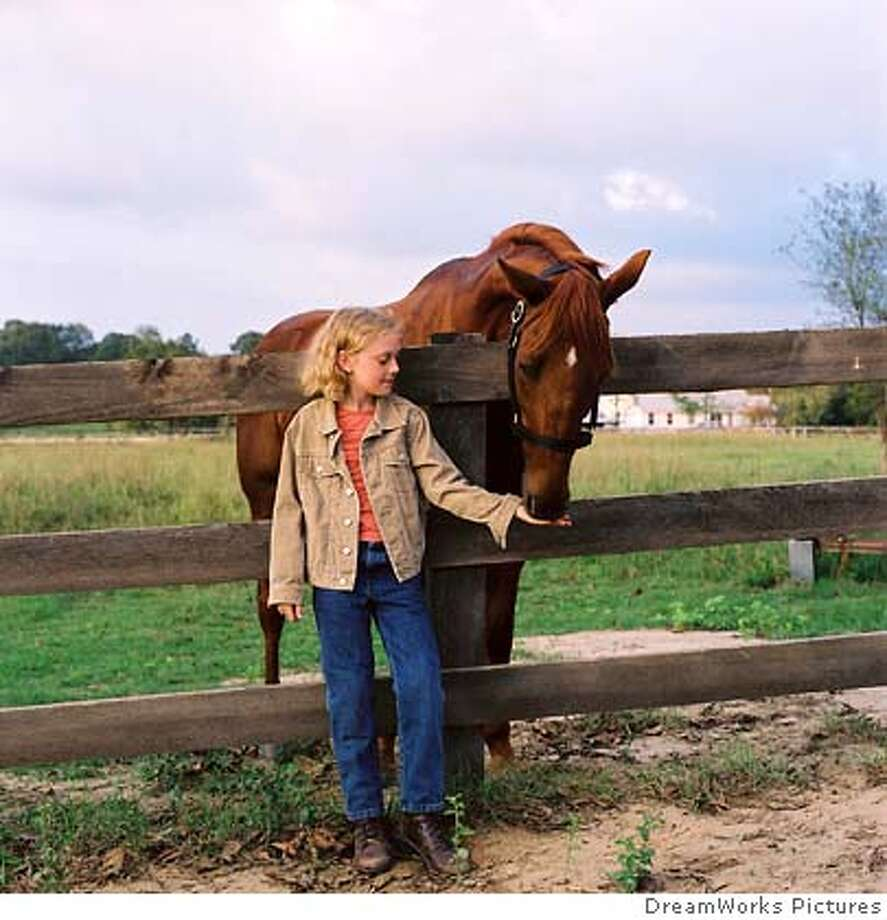 "In this undated publicity photo released by DreamWorks pictures Cale (Dakota Fanning) earns the trust of an injured racehorse, who then becomes her constant companion in the family drama ""Dreamer: Inspired by a true story"" in Los Angeles on October 7, 2005. The movie tells the story of a trainer (Kurt Russell) who with the help of his daughter (Fanning), nurses an injured horse back to health and opens in the U.S. on October 21. NO ARCHIVES REUTERS/Joe Lederer/DreamWorks Pictures/Handout 0 Photo: DreamWorks Pictures"