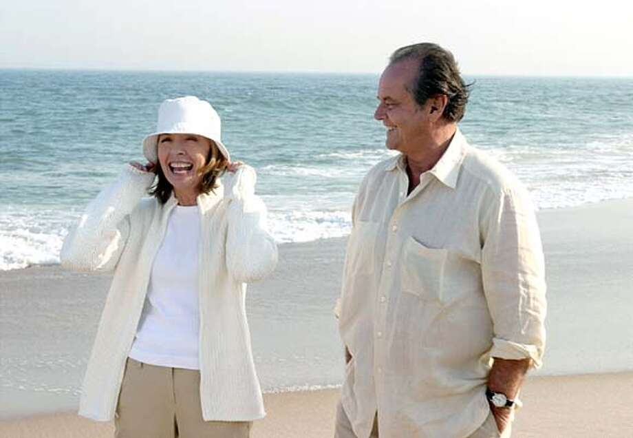 GIVE12.jpg  Diane Keaton and Jack Nicholson star in Columbia Pictures� sophisticated romantic comedy Something�s Gotta Give.