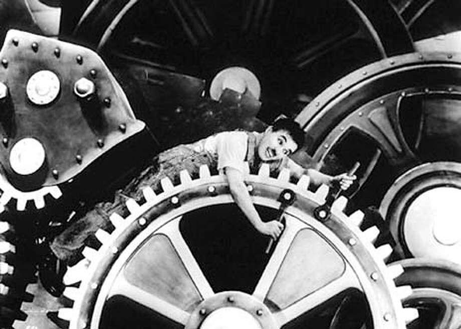 MODERN26  Charlie Chaplin Film Set Modern Times (1936)