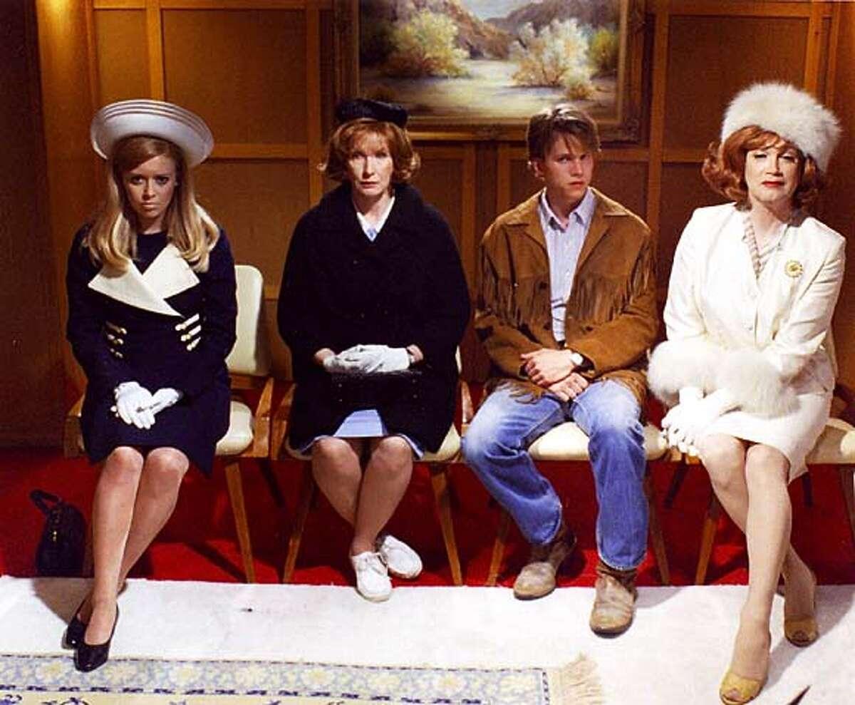 (l-r) Natasha Lyonne, Frances Conroy, Stark Sands, and Charles Busch in DIE MOMMIE DIE. Opening Night film at the 27th San Francisco International Lesbian & Gay Film Festival, June 12-29, 2003.