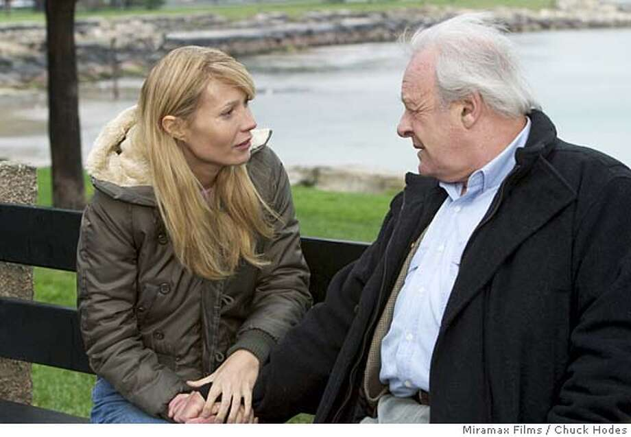 """In this photo provided by Miramax, Gwyneth Paltrow and Anthony Hopkins star in """"Proof,"""" based on the Pulitzer Prize-winning play by David Auburn. (AP Photo/Chuck Hodes) Photo: Miramax Films/"""