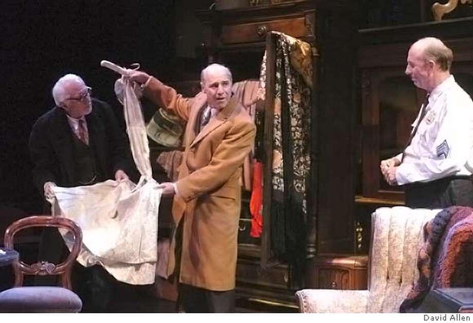 PRICE10 Ray Reinhardt, Michael Santo and Charles Dean star in THE PRICE at the Aurora Theatre. CR: DAVID ALLEN Photo: DAVID ALLEN
