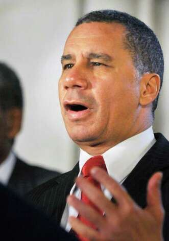 Former NYS Gov. David Paterson speaks during the announcement of a Capitol exhibit honoring prominent African-American New Yorkers in recognition of Black History at the Capitol Wednesday Feb. 15, 2012.   (John Carl D'Annibale / Times Union) Photo: John Carl D'Annibale / 00016444A