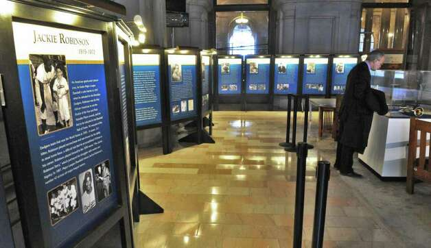 A new Capitol exhibit honoring prominent African-American New Yorkers in recognition of Black History at the Capitol Wednesday Feb. 15, 2012.   (John Carl D'Annibale / Times Union) Photo: John Carl D'Annibale / 00016444A